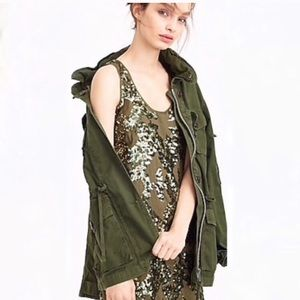 J. Crew Iridescent Green Sequin Dress